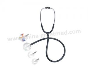 Single head stethoscope Acrylic head pvc tube and aluminum earloop