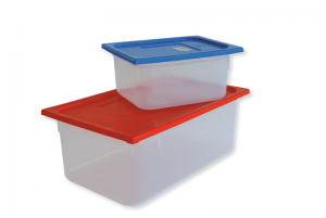 Container in polypropylene with lid for dirty instruments