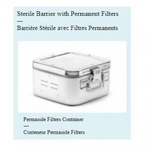 Sterile Barrier with Permanent Filters