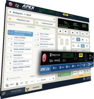 APEX touchscreen high-frequency x-ray generators