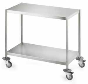 Trolley with 2 flat shelves