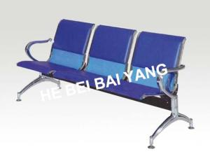 D-10 Plastic-sprayed Waiting Chair with Punched Steel Plate