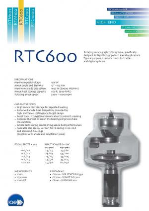 Rotating anode X-Ray tube insert