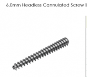 6.0mm Headless Cannulated Screw I