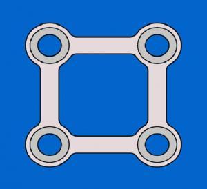 Square four-hole titanium link plates
