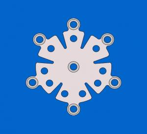 Snowflake tin titanium link plates