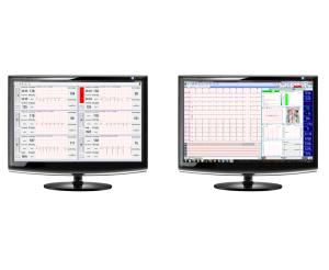 REMOTE ECG SYSTEM - MONITORING CENTRE BUILT UP MULTI STRESS- OR REST WORKSTATION