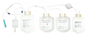 Blood Bag with in-line leuko depletion filter