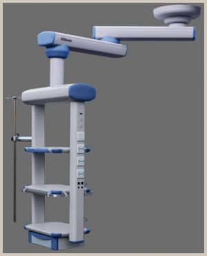Double arm ICU rotary pendant