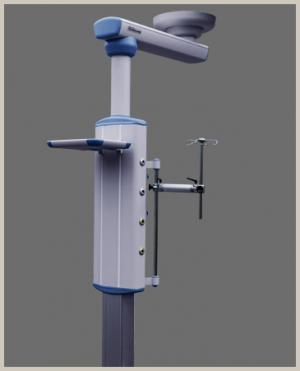 Single arm motorized anesthesia pendant