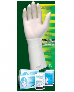 'Surgicare Low Pro' Sterile Latex Powdered Surgical Gloves with protein content less than 100µg/dm2
