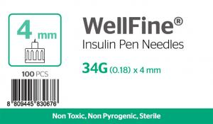 WellFine 34Gauge x 0.18mm 4mm