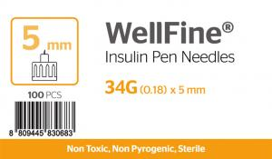 WellFine 34Gauge x 0.18mm 5mm