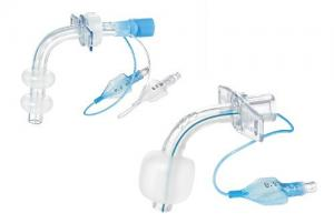 Tracheostomy tube with double cuff