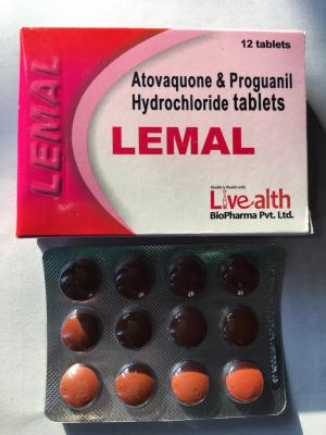 Atovaquone250mg & Proguanil HCL 100mg Tablet