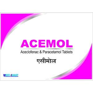 ACEMOL TAB ( Aceclofenec + Paracetamol Tab)