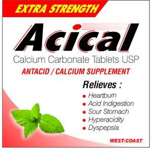 ACICAL TABLET ( Calcium Carbonate Antacid Tab)