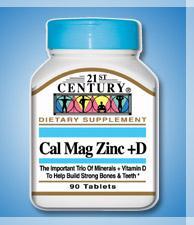 Cal Mag Zinc +D - 90 Tablets