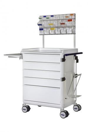 MODU-FLEX cart/trolley with telescopic drawers