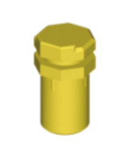 Positioning cylinder, for 048.540, yellow Height 10,2 mm POM