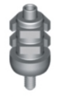 WN impression cap screw-retained, with integral guide screw Height 10 mm