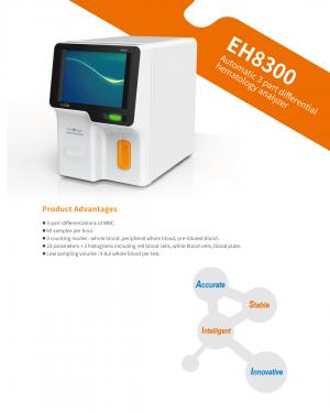 EH8300 Automatic 3 part differential hematology analyzer