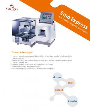 Emo Express Automatic coagulation analyzer