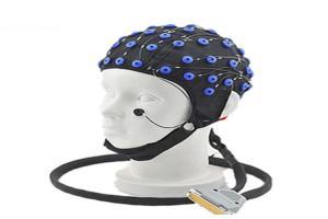 Silver / Silver Chloride Electrode EEG Cap Measuring Sensor 64 channel