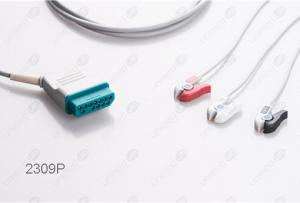 Nihon Kohden Disposable One Piece ECG Fixed Cable 2309P-I 2309P