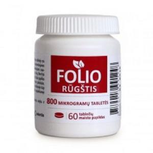 Folic acid 800µg tabs. N60