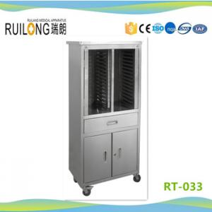 Hospital Stainless Steel Chart File Cabinet Cart Trolley