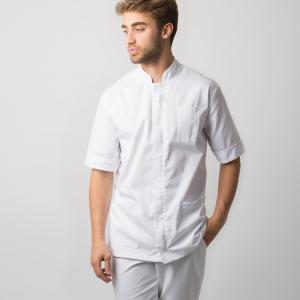 Men's mandarin collar tunic | Workwear | Alexandra