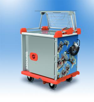 Distribution of multiportion meals - Multiserv : haccp in catering for hot food trolley - Socamel