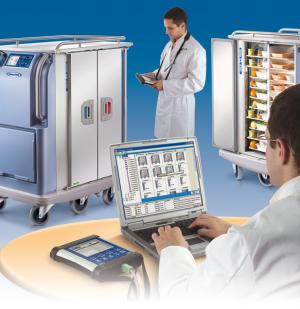Traceability Catering logistics : Socamel - IServ Technology, traceability and diagnostic with tray trolley