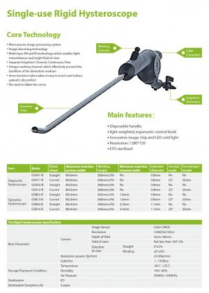 Single-use Rigid Hysteroscope  | Shanghai anqing Medical Equipment Co., Ltd.