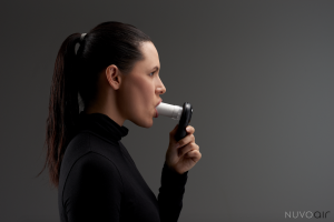 Air Next Spirometer in use by patient