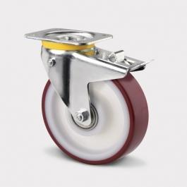 Swivel Castors with total and directional reverse, ZETA 468BUAP160P63, Heavy Duty Castors | TENTE USA