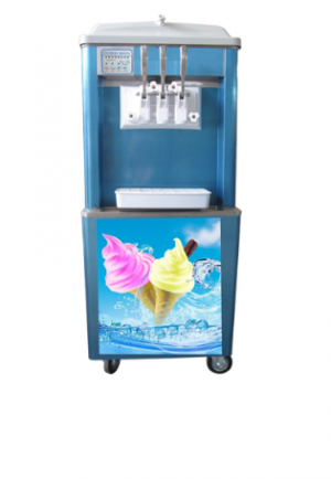 DOUBLE BARREL FLOORSTANDING SOFT SERVE MACHINE WITH REFRIGERATED HOPPER	- SSM1002