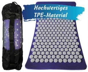 Acupressure mat   Needle stimulus mat   Relaxation mat   Shantimatte   purple / white