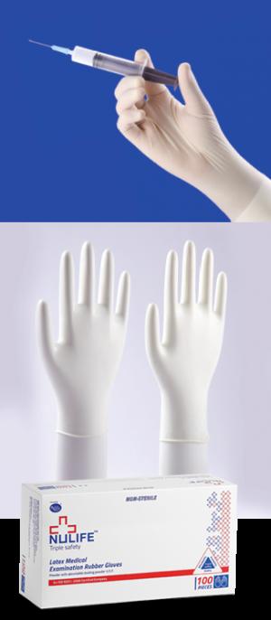 Latex Disposable Gloves, Latex Examination Gloves Powder Free