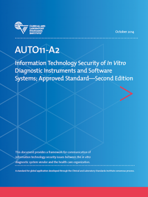 AUTO11A2: IT Security of In Vitro Diagnostic Instrument