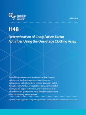 H48-Ed2: Determination of Coagulation Factor Activities
