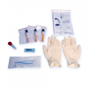 Microbiological inactivation monitoring kit