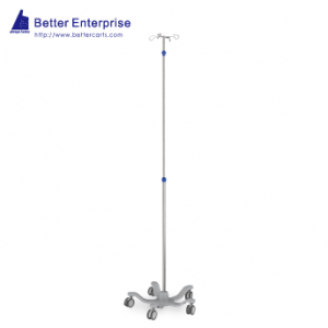 Telescoping IV Stand (One-Hand-Adjustment), Telescoping IV Stand (One-Hand-Adjustment) Manufacturer | BETTER