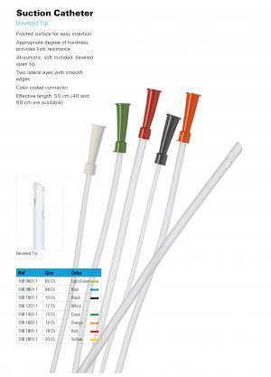 Suction Catheter Beveled Tip