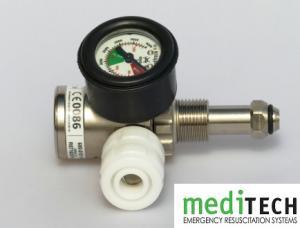 MEDITECH British Bullnose Medical Oxygen Regulators