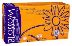 Powder Free Textured Latex Exam Gloves with Aloe Vera + Vitamin E Mexpo International Inc :: Blossom Disposable Products
