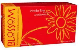 Powder Free White Vinyl Exam Gloves Mexpo International Inc :: Blossom Disposable Products