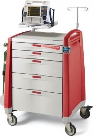 Avalo Emergency Cart - Red | Capsa Healthcare