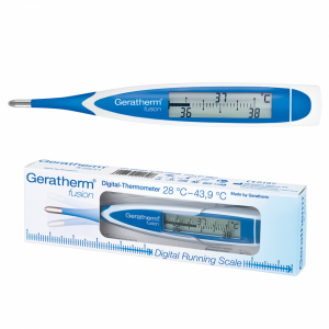 digital thermometer with digital running scale